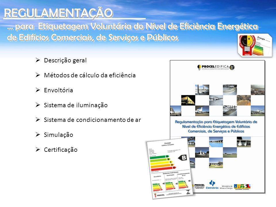 REGULAMENTAÇÃO ... para Etiquetagem Voluntária do Nível de Eficiência Energética de Edifícios Comerciais, de Serviços e Públicos.