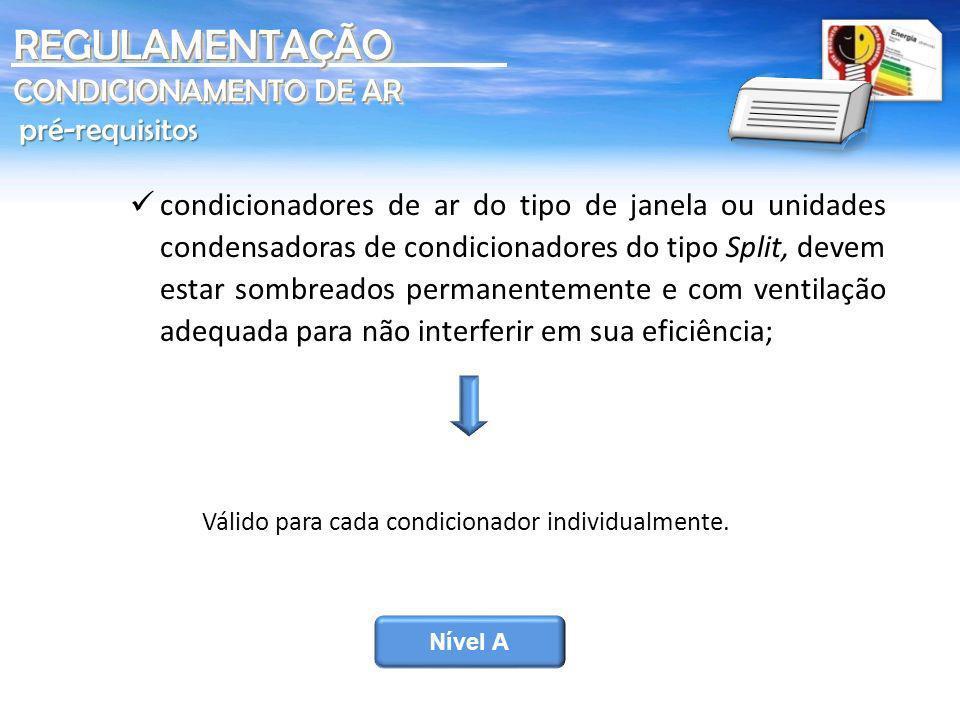 REGULAMENTAÇÃO CONDICIONAMENTO DE AR pré-requisitos