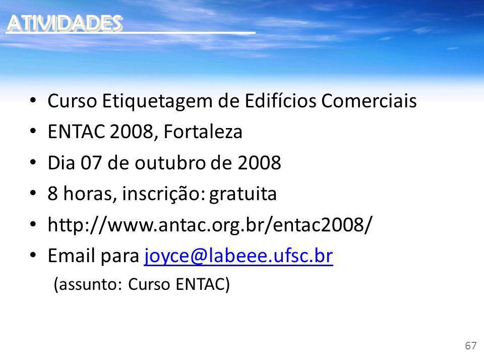 Curso Etiquetagem de Edifícios Comerciais ENTAC 2008, Fortaleza