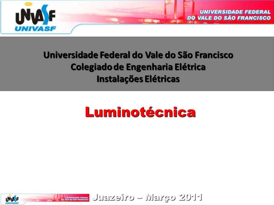 Universidade Federal do Vale do São Francisco Colegiado de Engenharia Elétrica Instalações Elétricas