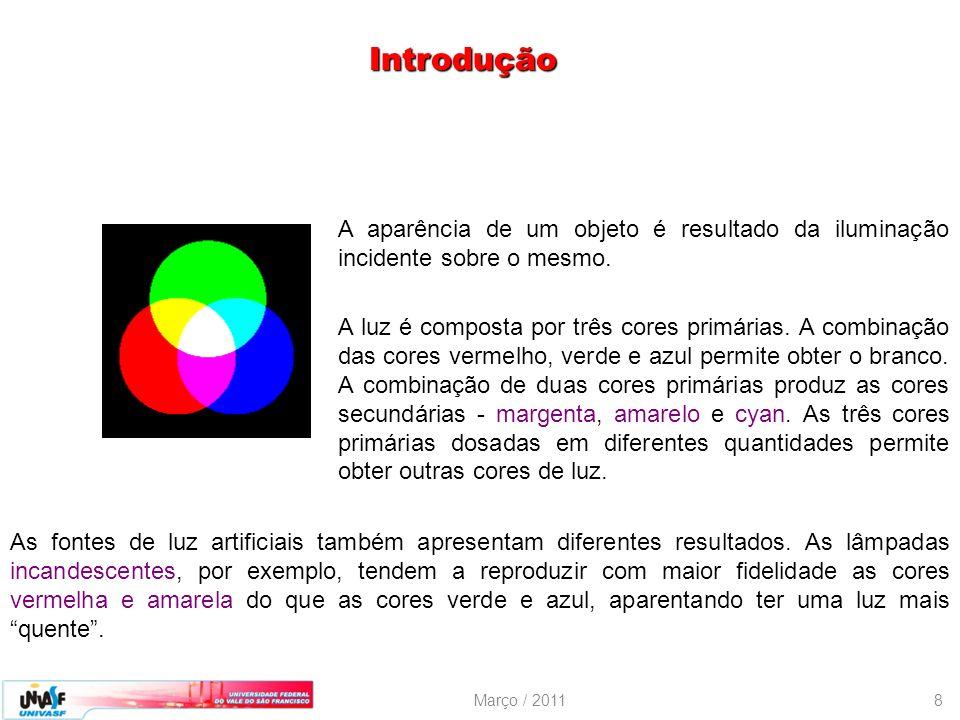 Introdução A aparência de um objeto é resultado da iluminação incidente sobre o mesmo.