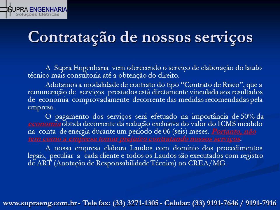 Contratação de nossos serviços