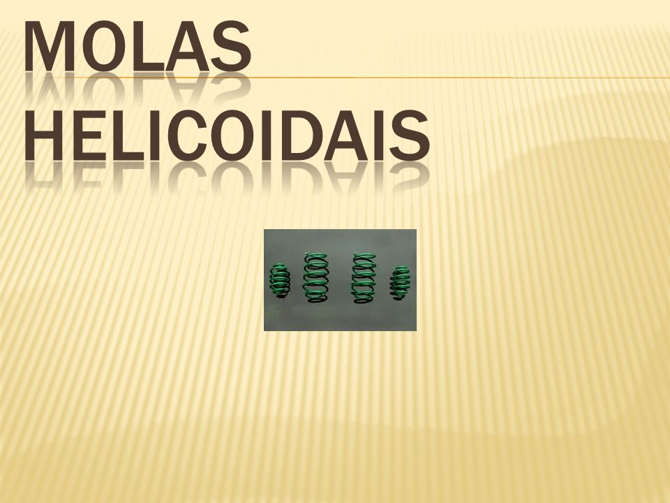 MOLAS HELICOIDAIS