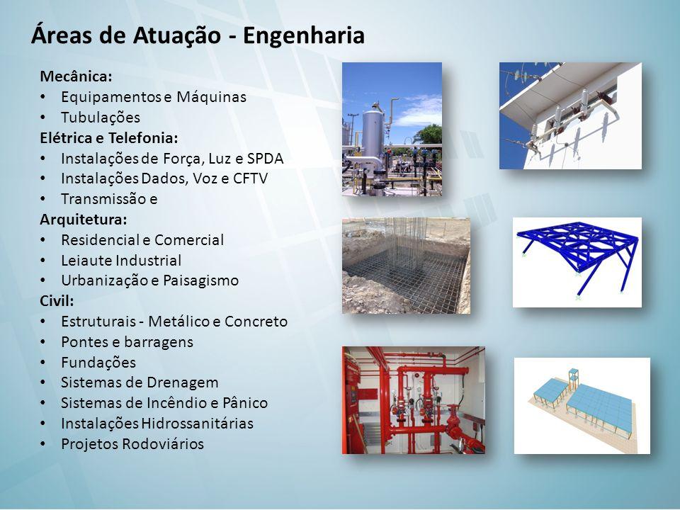 Áreas de Atuação - Engenharia