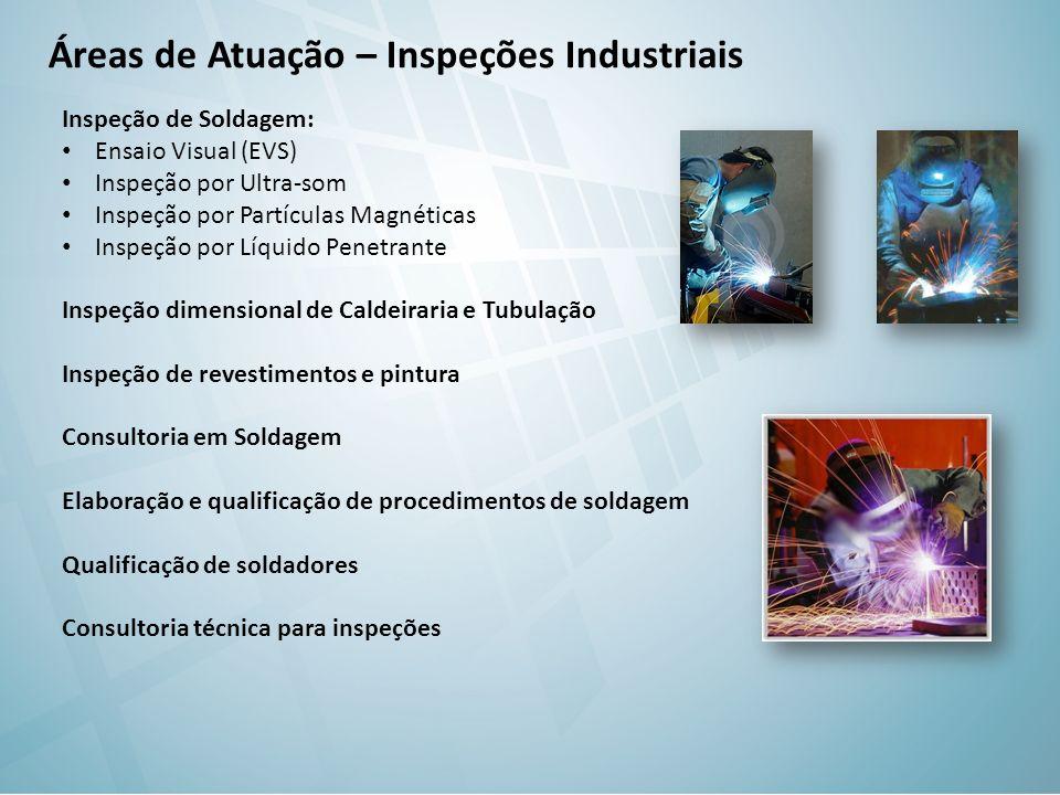 Áreas de Atuação – Inspeções Industriais