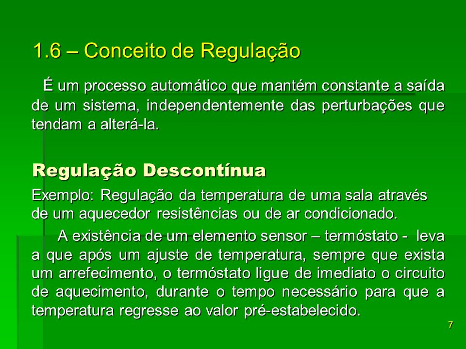 1.6 – Conceito de Regulação