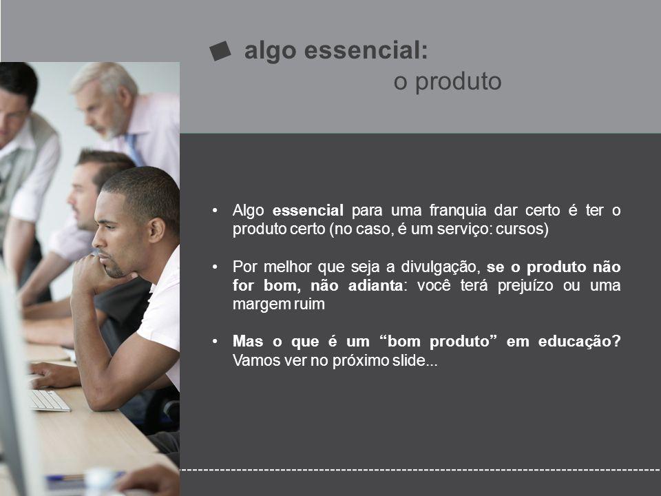 algo essencial: o produto