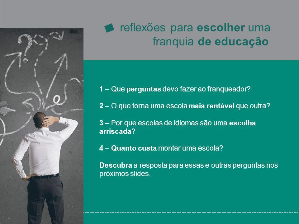 franquia de educação reflexões para escolher uma
