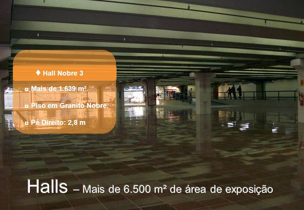 Halls – Mais de 6.500 m² de área de exposição