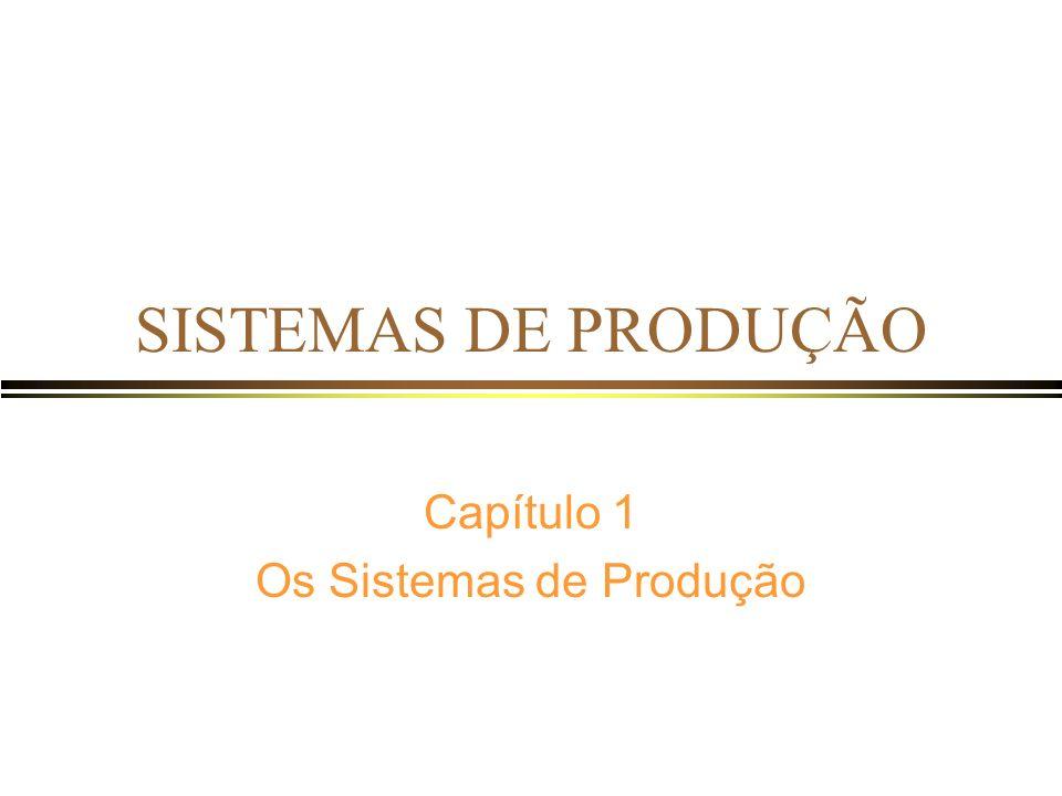 Capítulo 1 Os Sistemas de Produção