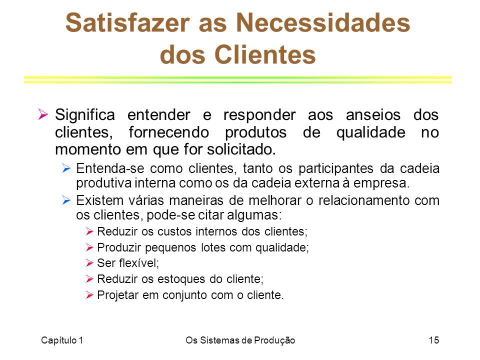 Satisfazer as Necessidades dos Clientes