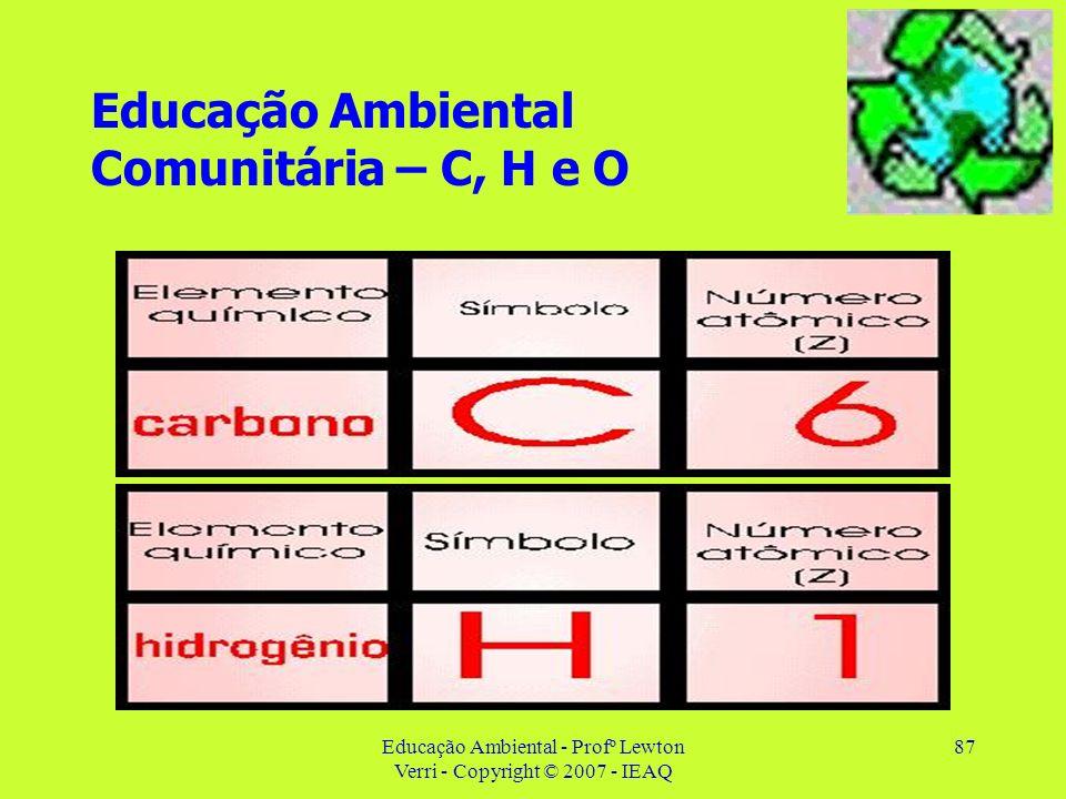 Educação Ambiental Comunitária – C, H e O