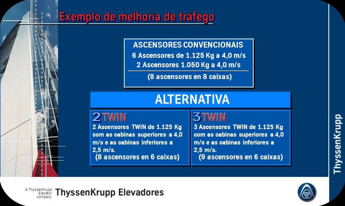 ALTERNATIVA 2 3 ASCENSORES CONVENCIONAIS