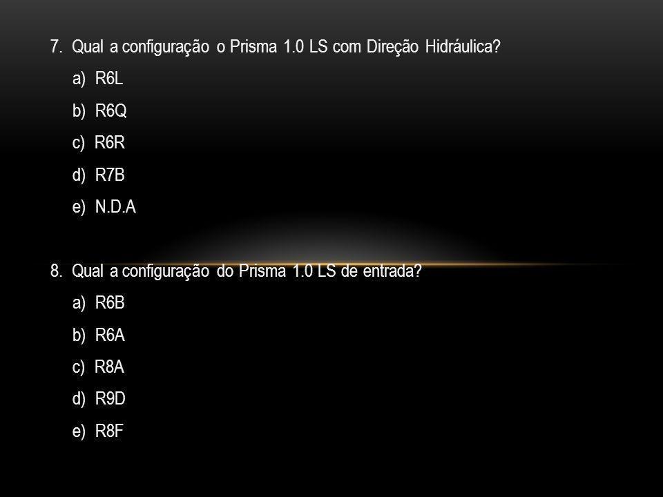 7. Qual a configuração o Prisma 1.0 LS com Direção Hidráulica