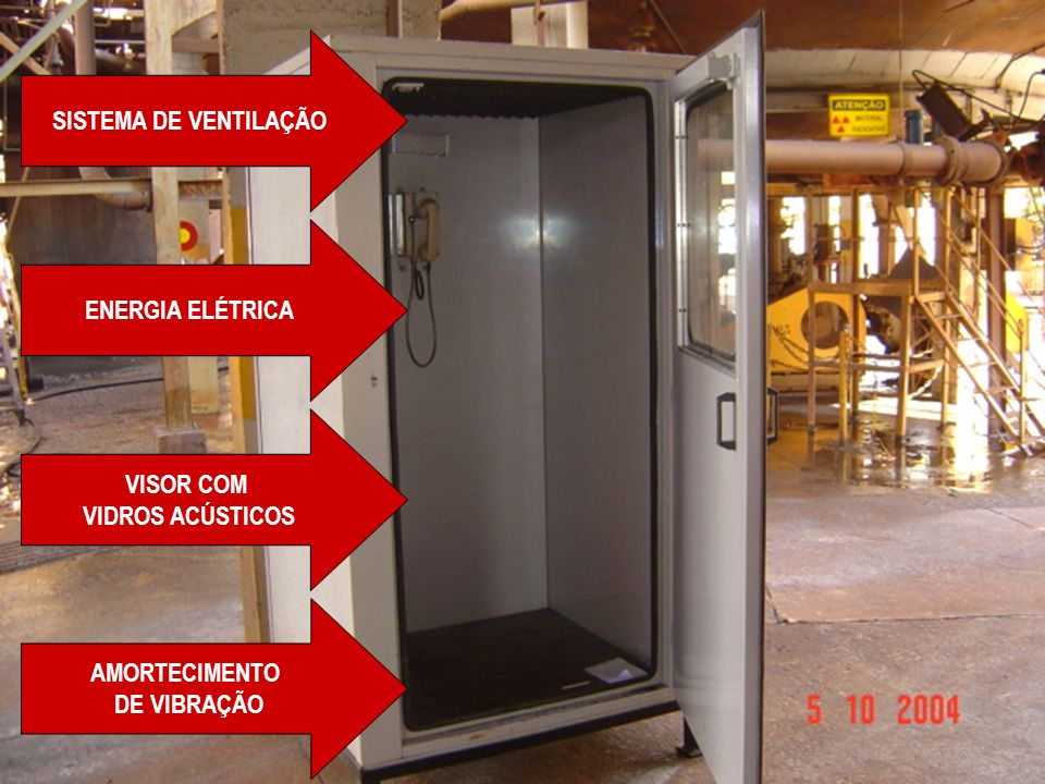 SISTEMA DE VENTILAÇÃO ENERGIA ELÉTRICA VISOR COM VIDROS ACÚSTICOS AMORTECIMENTO DE VIBRAÇÃO