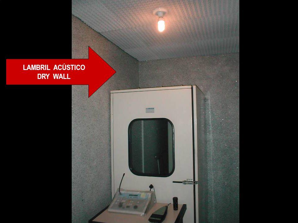 LAMBRIL ACÚSTICO DRY WALL