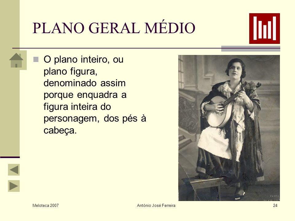 PLANO GERAL MÉDIO O plano inteiro, ou plano figura, denominado assim porque enquadra a figura inteira do personagem, dos pés à cabeça.