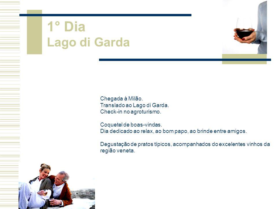 1° Dia Lago di Garda Chegada à Milão. Translado ao Lago di Garda.