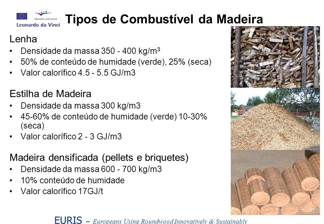 Tipos de Combustível da Madeira