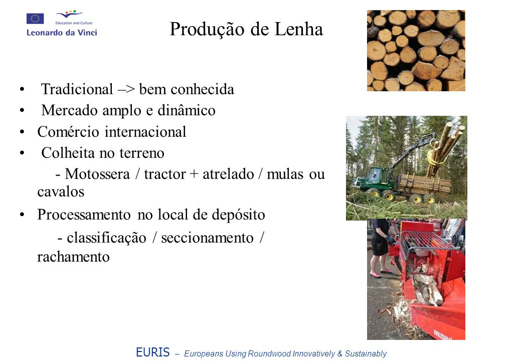 Produção de Lenha Tradicional –> bem conhecida