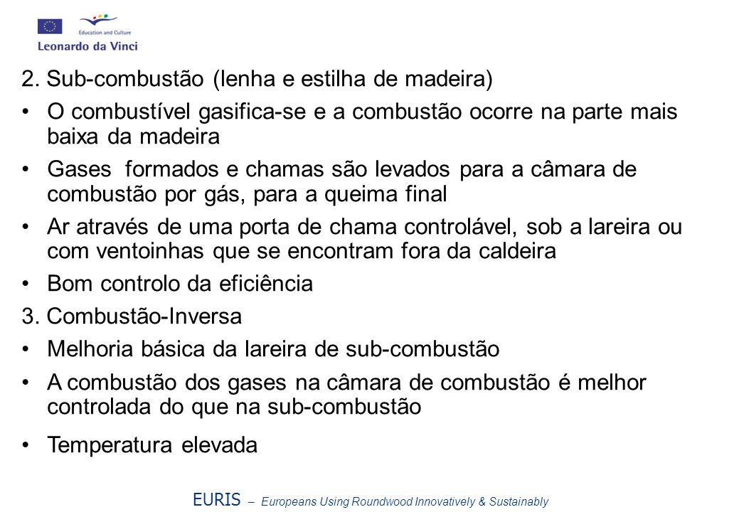 2. Sub-combustão (lenha e estilha de madeira)