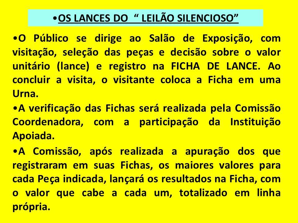 OS LANCES DO LEILÃO SILENCIOSO