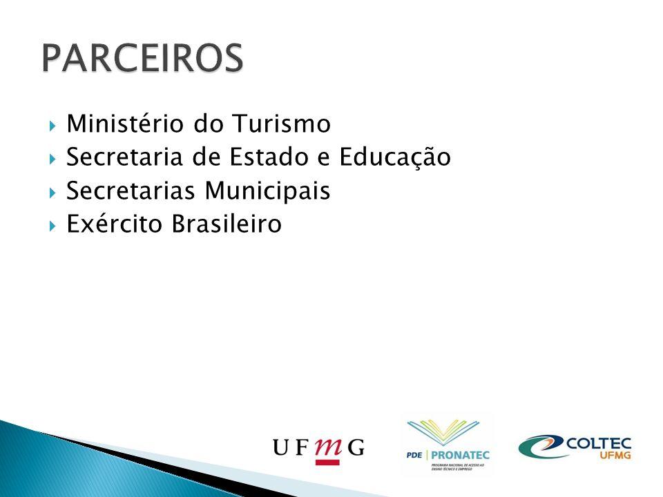 PARCEIROS Ministério do Turismo Secretaria de Estado e Educação