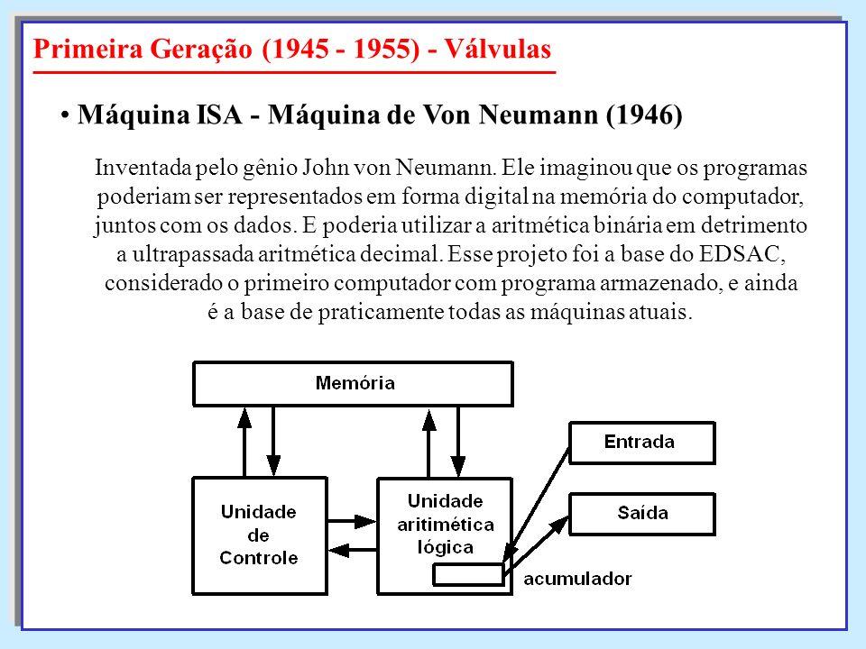Primeira Geração (1945 - 1955) - Válvulas