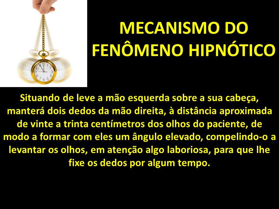 MECANISMO DO FENÔMENO HIPNÓTICO