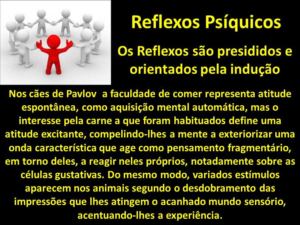 Os Reflexos são presididos e orientados pela indução