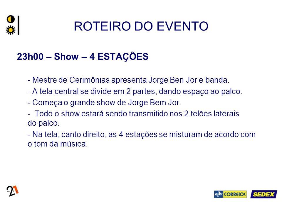 ROTEIRO DO EVENTO 23h00 – Show – 4 ESTAÇÕES