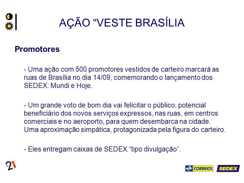 AÇÃO VESTE BRASÍLIA Promotores