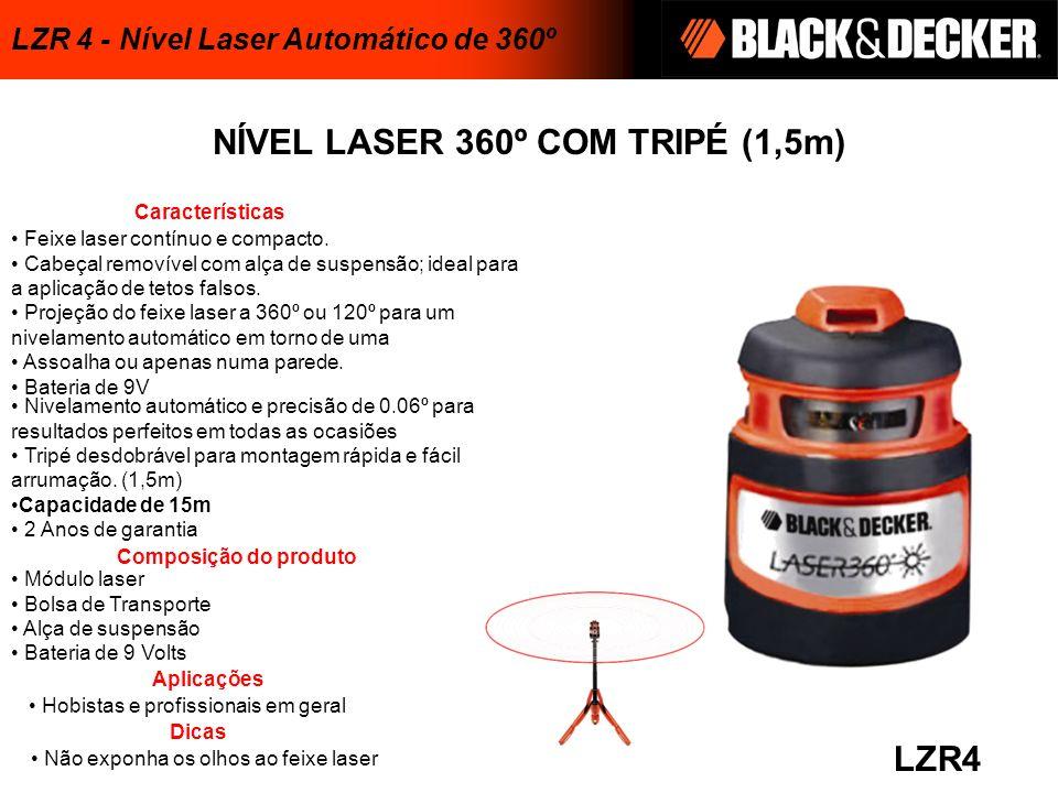 NÍVEL LASER 360º COM TRIPÉ (1,5m)