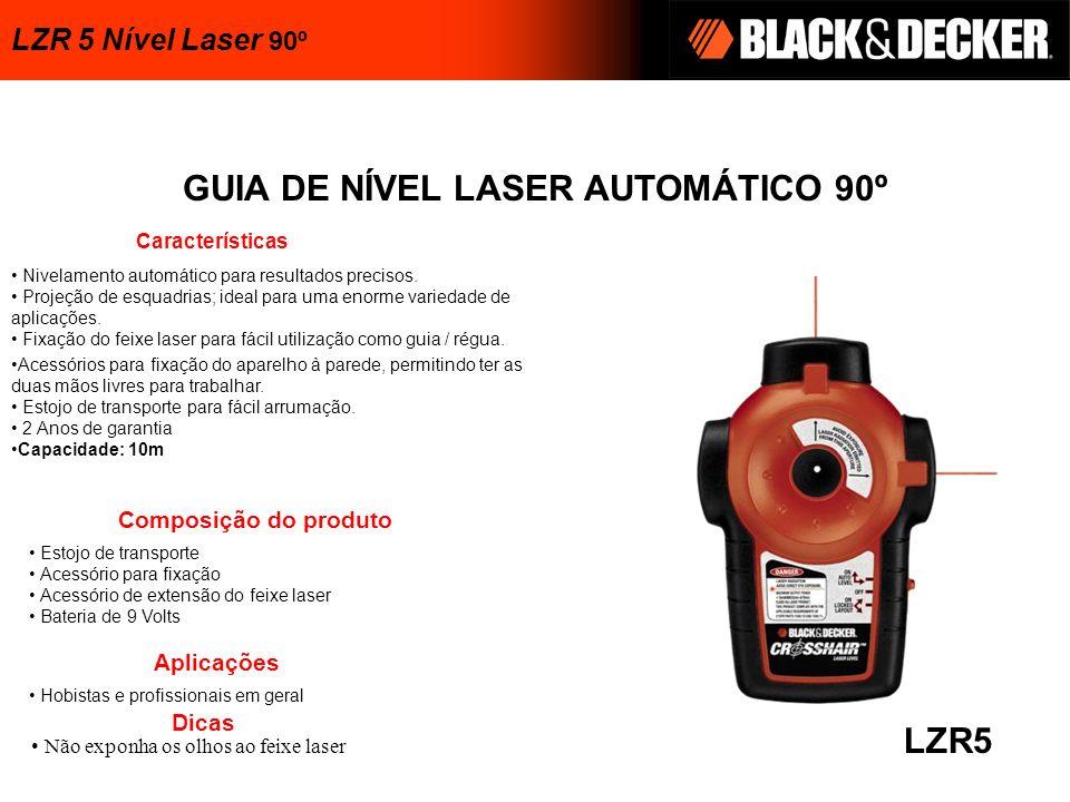GUIA DE NÍVEL LASER AUTOMÁTICO 90º