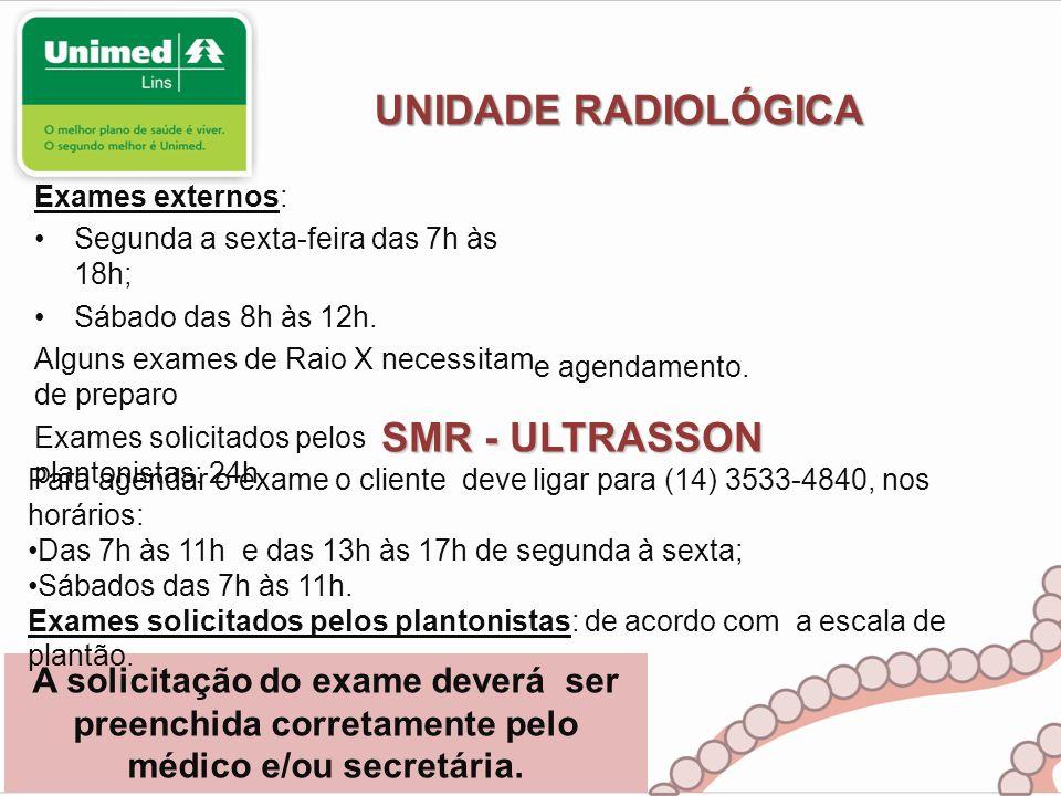 UNIDADE RADIOLÓGICA SMR - ULTRASSON