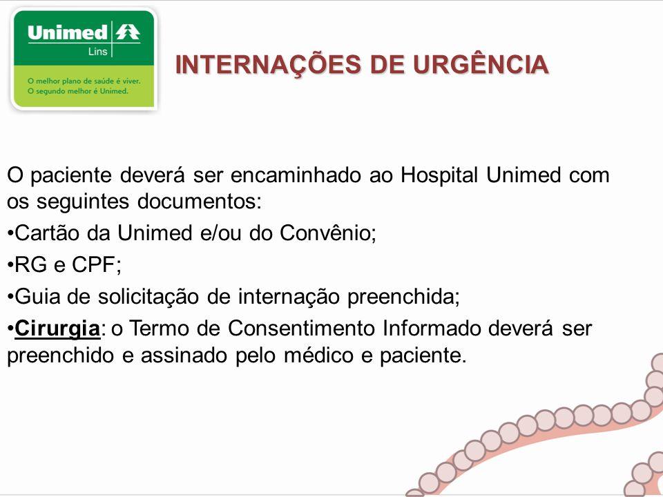 INTERNAÇÕES DE URGÊNCIA