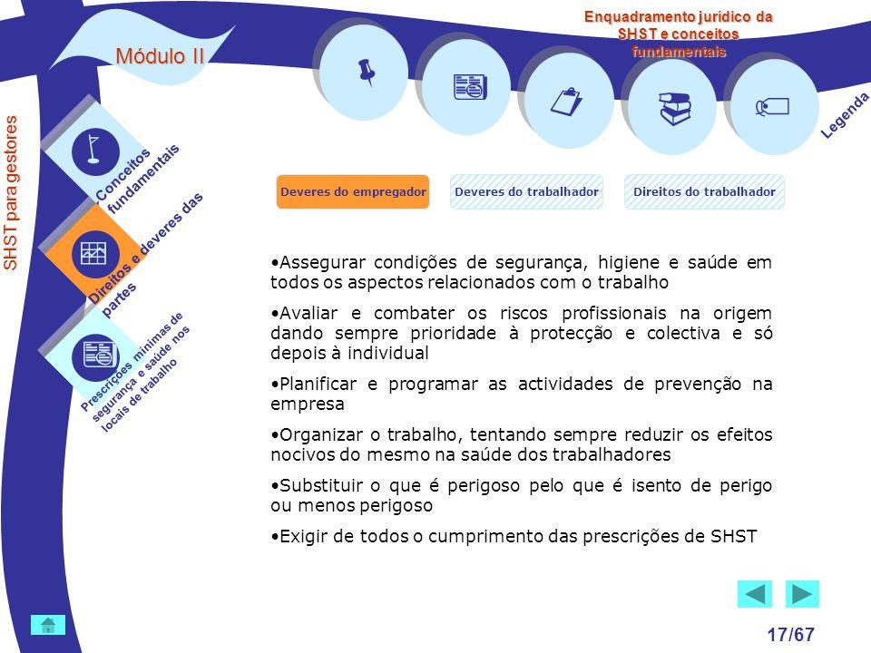        Módulo II 17/67  SHST para gestores