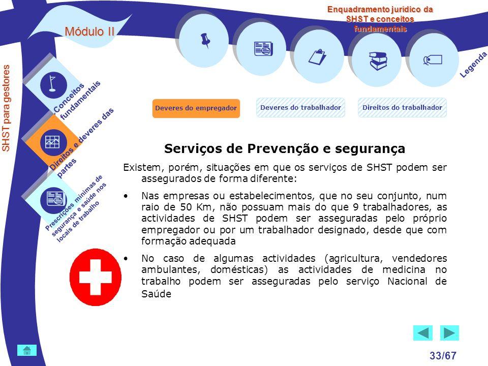        Módulo II Serviços de Prevenção e segurança 33/67 