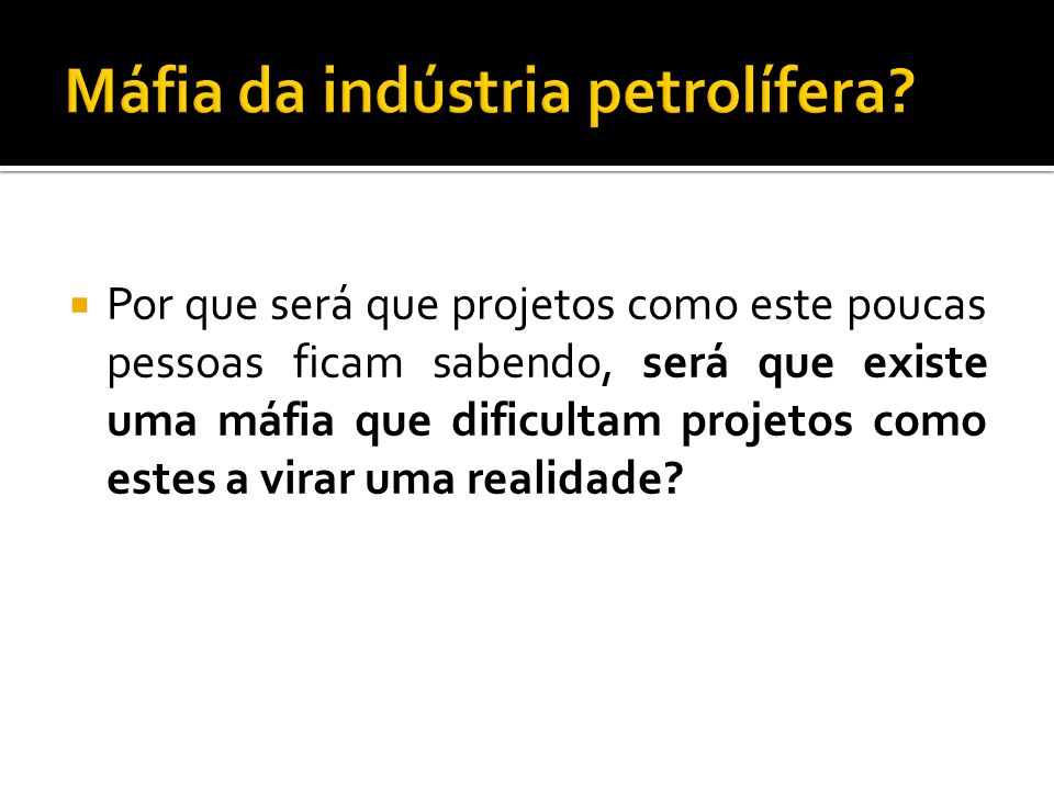 Máfia da indústria petrolífera