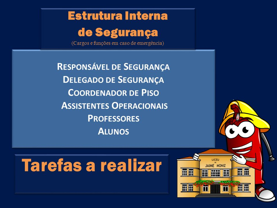 (Cargos e funções em caso de emergência)
