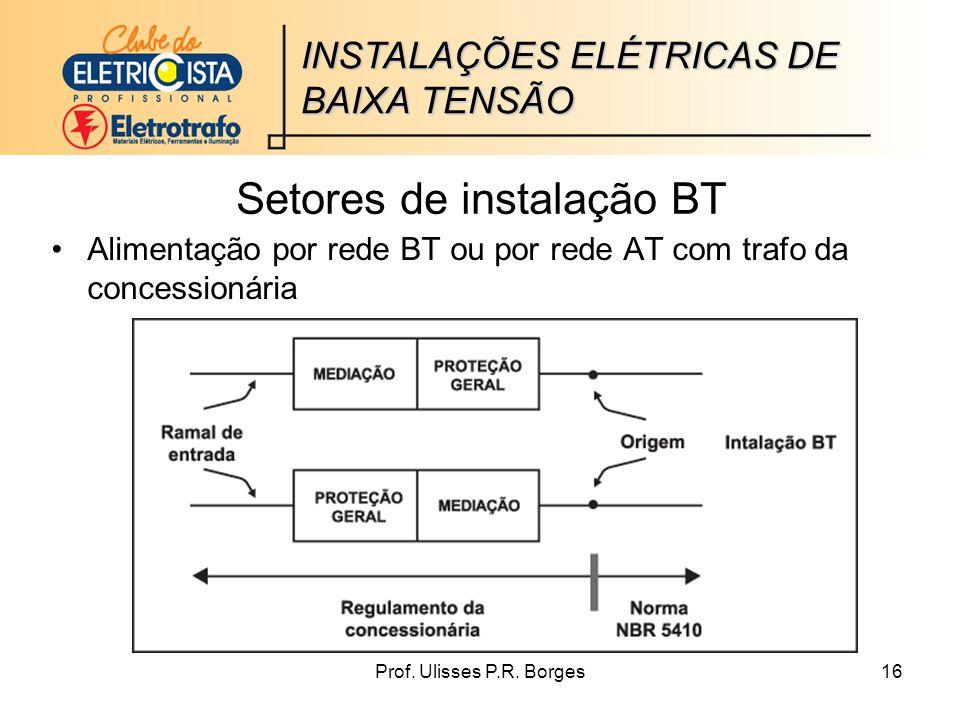 Setores de instalação BT