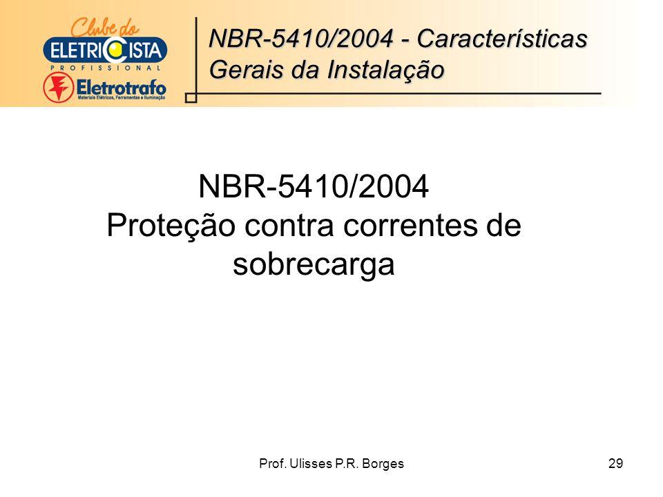 NBR-5410/2004 Proteção contra correntes de sobrecarga