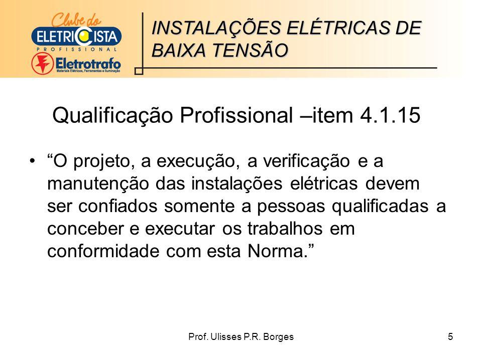 Qualificação Profissional –item 4.1.15