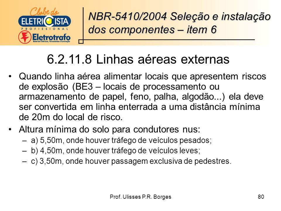 6.2.11.8 Linhas aéreas externas