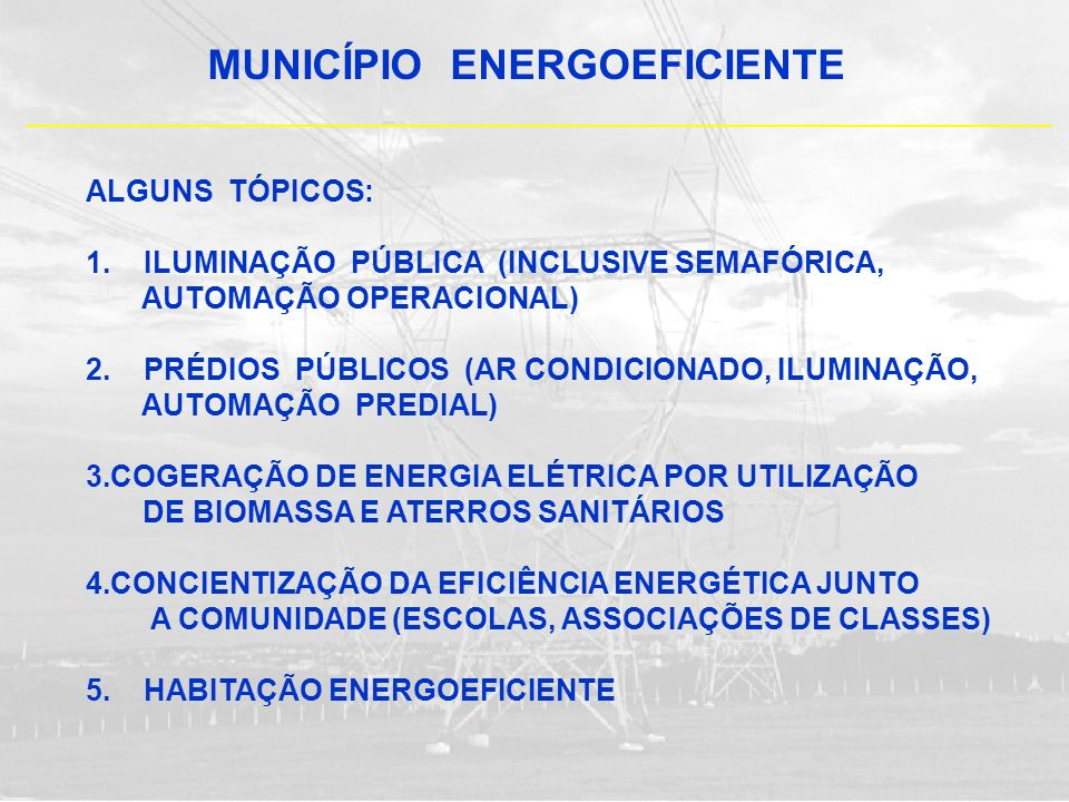 MUNICÍPIO ENERGOEFICIENTE