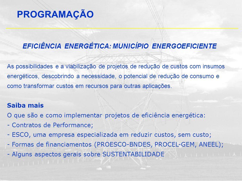 EFICIÊNCIA ENERGÉTICA: MUNICÍPIO ENERGOEFICIENTE