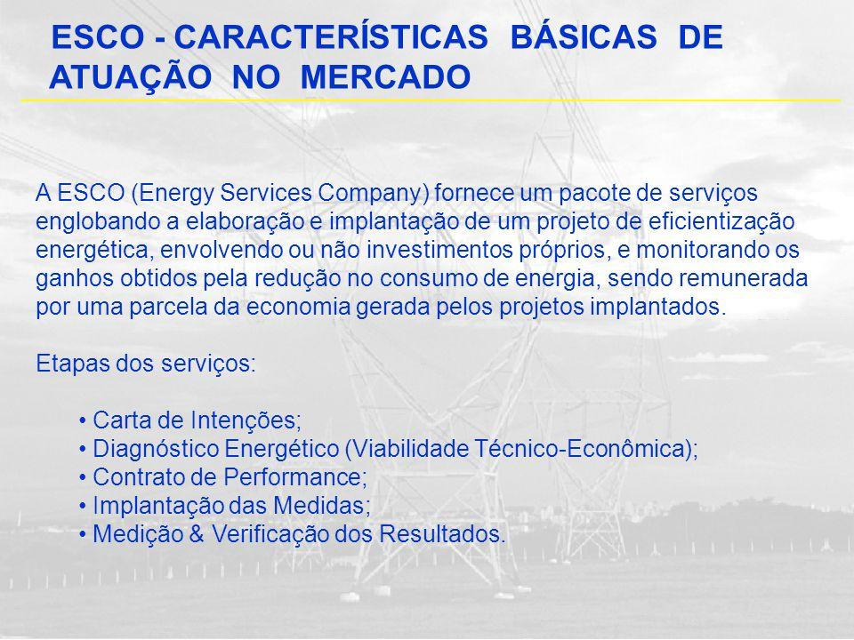 ESCO - CARACTERÍSTICAS BÁSICAS DE ATUAÇÃO NO MERCADO