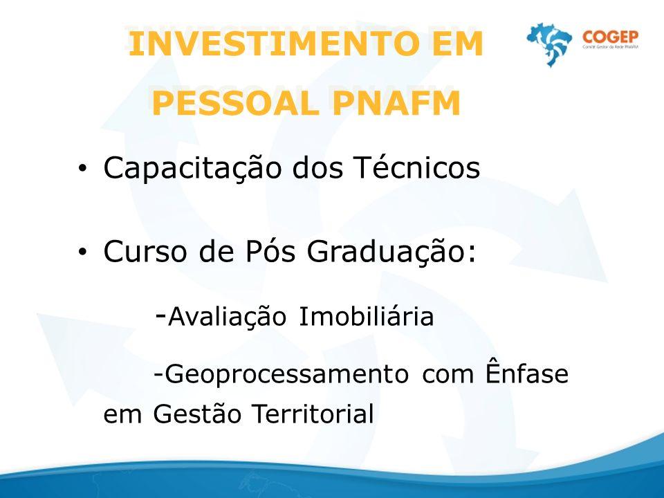 INVESTIMENTO EM PESSOAL PNAFM