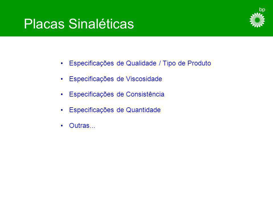 Placas Sinaléticas Especificações de Qualidade / Tipo de Produto