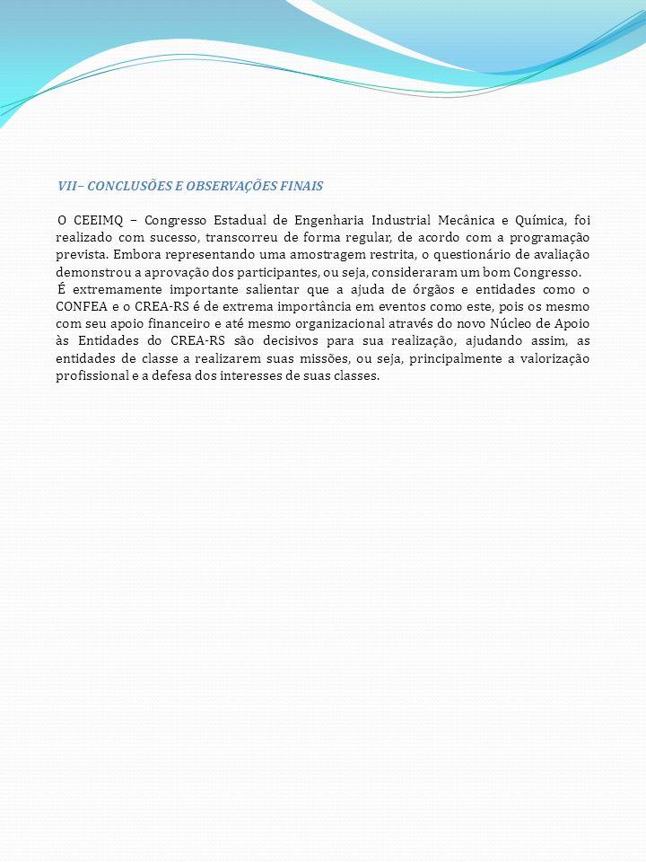 VII– CONCLUSÕES E OBSERVAÇÕES FINAIS